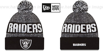 Raiders '2016 STADIUM' Black-White Knit Beanie Hat by New Era