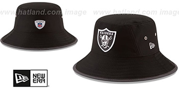 Raiders '2017 NFL TRAINING BUCKET' Black Hat by New Era