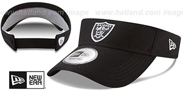 Raiders '2017 NFL TRAINING VISOR' Black by New Era