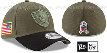 Raiders '2017 SALUTE-TO-SERVICE FLEX' Green-Black Hat by New Era