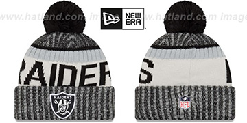 Raiders 2017 STADIUM BEANIE Black Knit Hat by New Era