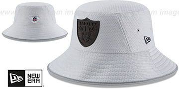 Raiders 2018 NFL TRAINING BUCKET Grey Hat by New Era