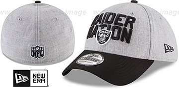 Raiders 2018 ONSTAGE FLEX Grey-Black Hat by New Era