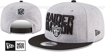 Raiders '2018 ONSTAGE SNAPBACK' Grey-Black Hat by New Era