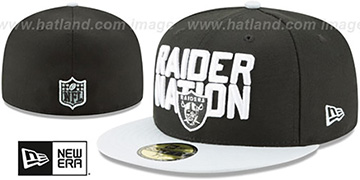 Raiders '2018 SPOTLIGHT' Black-Grey Fitted Hat by New Era