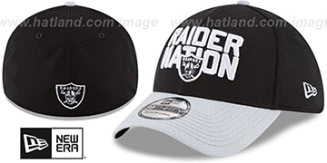 Raiders '2018 SPOTLIGHT FLEX' Black-Grey Hat by New Era