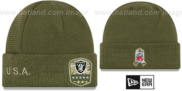 Raiders 2019 SALUTE-TO-SERVICE Knit Beanie Hat by New Era