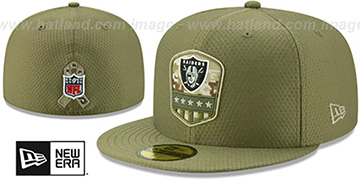 Raiders 2019 SALUTE-TO-SERVICE Olive Fitted Hat by New Era