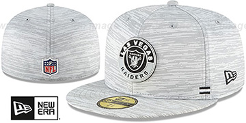 Raiders 2020 ONFIELD STADIUM Heather Grey Fitted Hat by New Era