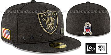 Raiders 2020 SALUTE-TO-SERVICE ST Black Fitted Hat by New Era
