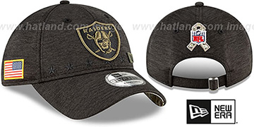 Raiders 2020 SALUTE-TO-SERVICE STRAPBACK ST Black Hat by New Era