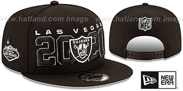 Raiders 2020 VIRTUAL DRAFT SNAPBACK Black Hat by New Era