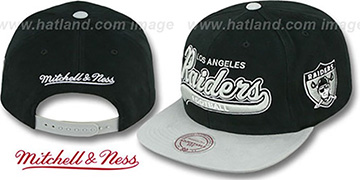 Raiders '2T TAILSWEEPER SNAPBACK' Black-Grey Hat by Mitchell & Ness