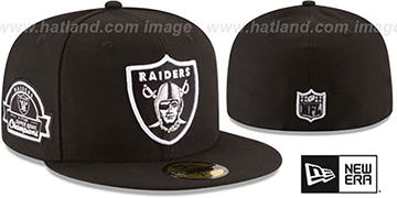 Raiders 3X 'TITLES SIDE-PATCH' Black Fitted Hat by New Era