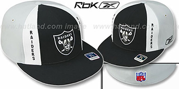 Raiders 'AJD PINWHEEL' Black-Grey Fitted Hat by Reebok