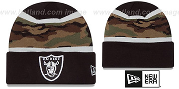 Raiders ARMY CAMO FILLZ Knit Beanie Hat by New Era