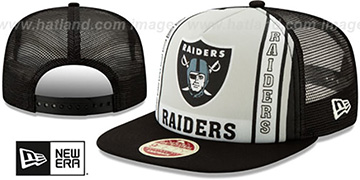 Raiders BANNER FOAM TRUCKER SNAPBACK Hat by New Era