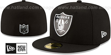 Raiders 'BEVEL' Black Fitted Hat by New Era