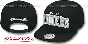 Raiders 'BLOCK-ARCH SNAPBACK' Black Hat by Mitchell & Ness