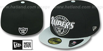 Raiders CIRCLE-CLOSER Black-Grey Fitted Hat by New Era
