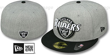 Raiders 'CIRCLE-CLOSER' Grey-Black Fitted Hat by New Era