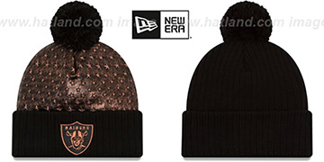 Raiders 'COPPER CRUSH' Black Knit Beanie by New Era