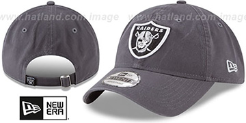 Raiders CORE-CLASSIC STRAPBACK Charcoal Hat by New Era