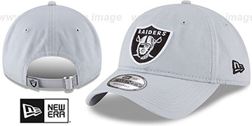 Raiders CORE-CLASSIC STRAPBACK Light Grey Hat by New Era