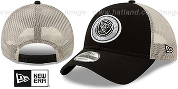 Raiders ESTABLISHED CIRCLE TRUCKER SNAPBACK Hat by New Era