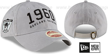 Raiders ESTABLISHED YEAR STRAPBACK Grey Hat by New Era