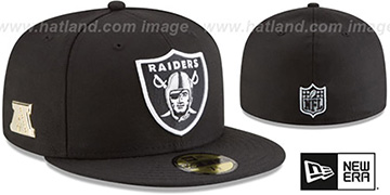 Raiders GILDED TURN Black Fitted Hat by New Era