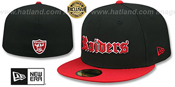 Raiders GOTHIC TEAM-BASIC Black-Red Fitted Hat by New Era