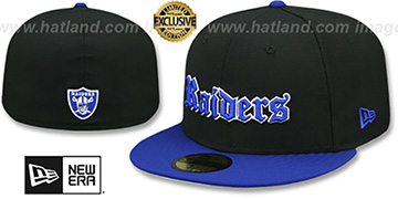 Raiders GOTHIC TEAM-BASIC Black-Royal Fitted Hat by New Era