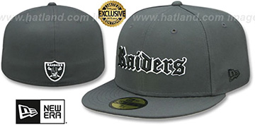 Raiders GOTHIC TEAM-BASIC Charcoal Fitted Hat by New Era