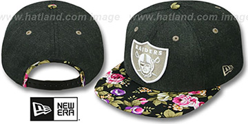 Raiders 'HEATHER BLOOM SNAPBACK' Charcoal-Black Hat by New Era