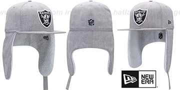 Raiders 'HEATHER-DOGEAR' Light Grey Fitted Hat by New Era