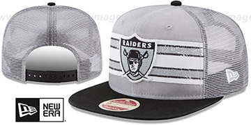 Raiders 'HERITAGE-STRIPE SNAPBACK' Grey-Black Hat by New Era