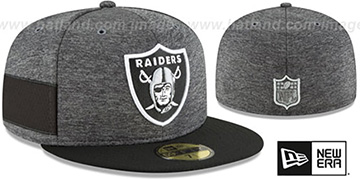 Raiders HOME ONFIELD STADIUM Charcoal-Black Fitted Hat by New Era