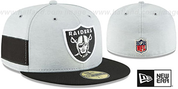 Raiders 'HOME ONFIELD STADIUM' Grey-Black Fitted Hat by New Era