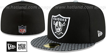 Raiders 'HONEYCOMB STADIUM' Black Fitted Hat by New Era