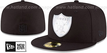 Raiders 'IRIDESCENT HOLOGRAM' Black Fitted Hat by New Era