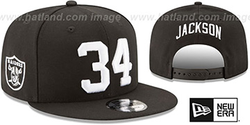 Raiders 'JACKSON 34 SNAPBACK' Black Hat by New Era