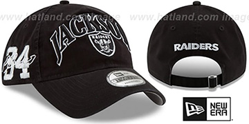 Raiders JACKSON CLASSIC FRAME STRAPBACK Black Hat by New Era