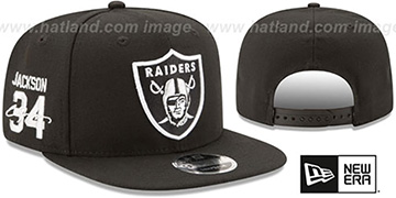 Raiders JACKSON SIDE-SIGN SNAPBACK Black Hat by New Era