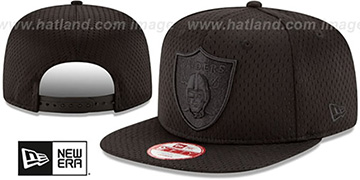 Raiders 'JERSEY MESH TONAL SNAPBACK' Black Hat by New Era