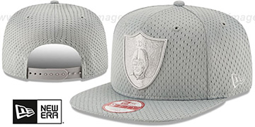 Raiders 'JERSEY MESH TONAL SNAPBACK' Grey Hat by New Era
