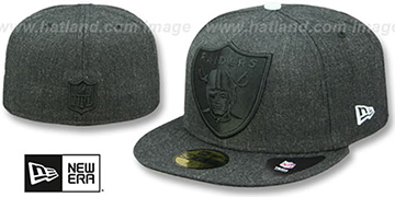 Raiders 'JUMBO HEATHER' Black Fitted Hat by New Era