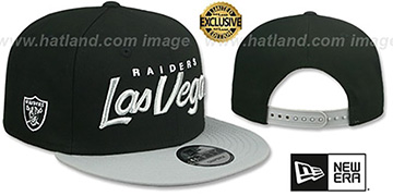 Raiders 'LAS VEGAS SCRIPT TEAM-BASIC SNAPBACK' Black-Grey Hat by New Era