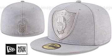 Raiders 'MEGATONE' Grey Shadow Tech Fitted Hat by New Era
