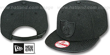 Raiders 'MELTON STINGER STRAPBACK' Hat by New Era